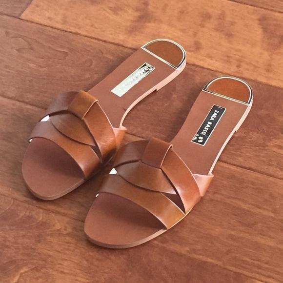 Zara lather crossover sandals 41